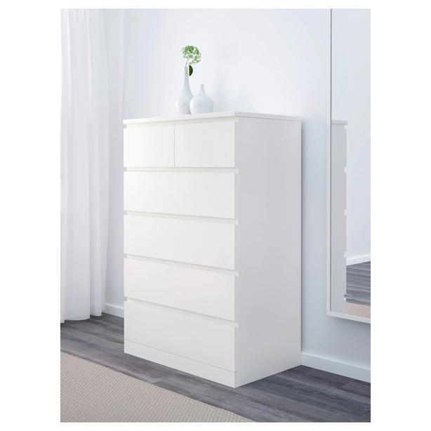 Linen dresser with 6 drawers, white, IKEA quality - Bargain