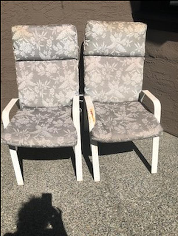Two Patio Chairs with Cushions
