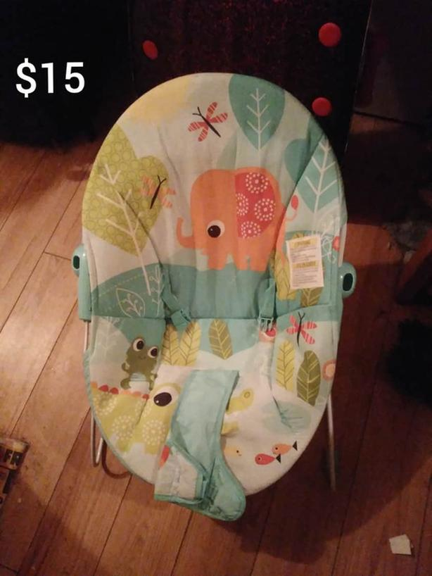 Baby Bouncer and Stuffies For Sale