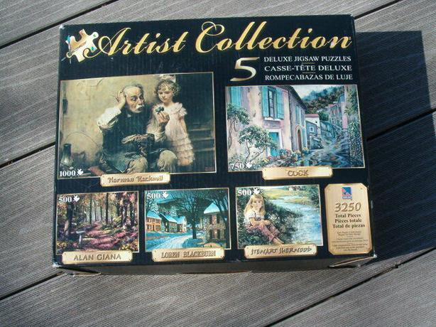 Sure-Lox Artist Collection 5 Deluxe Jigsaw Puzzles