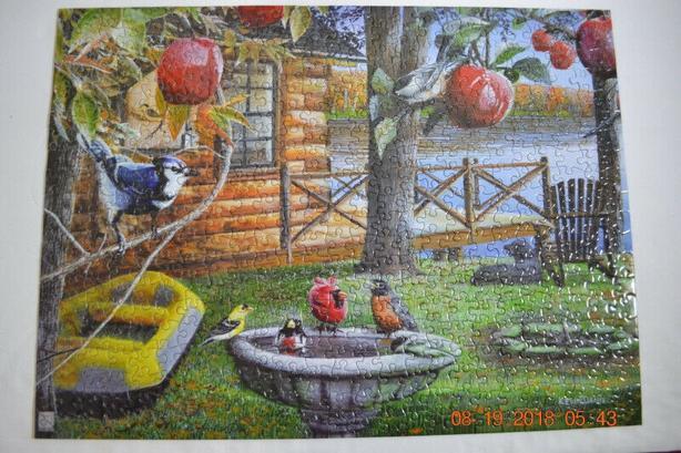 puzzle sure lax 500pc Kevin Daniel birds in cabin