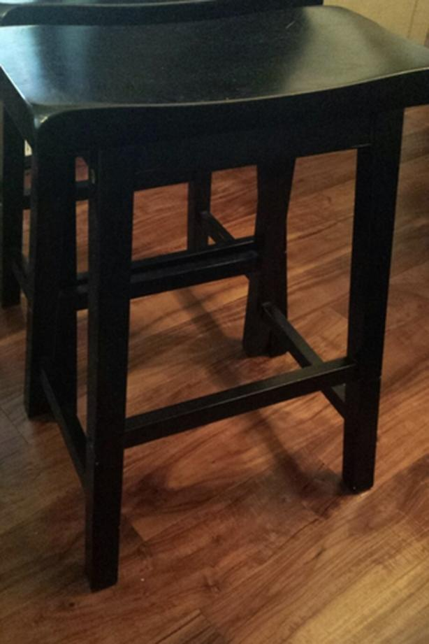 "Solid Wood  Stools 24""/ 2 pc dark brown"
