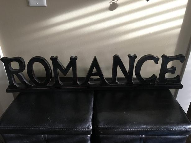 ROMANCE decorative sign
