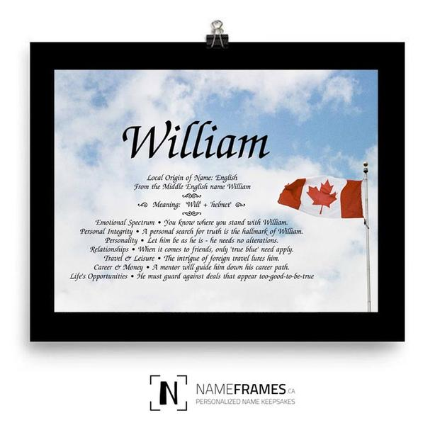 Frame - With the custom design & the meaning of a name