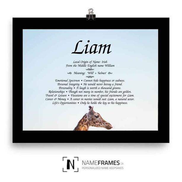 Meaning of your name - Framed - Ready for Display