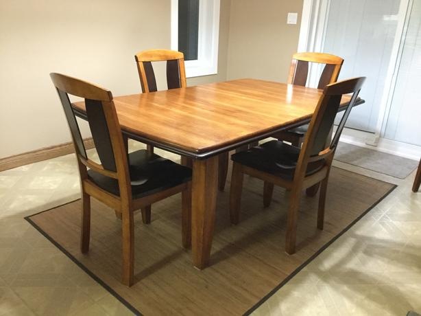 Dining room table and side serving table