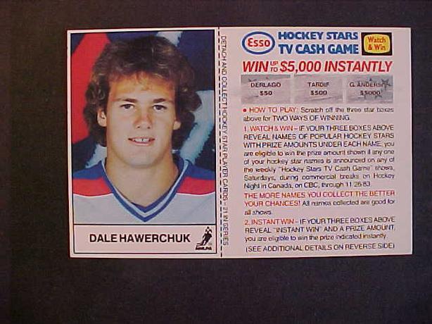 DALE HAWERCHUK HOCKEY CARD