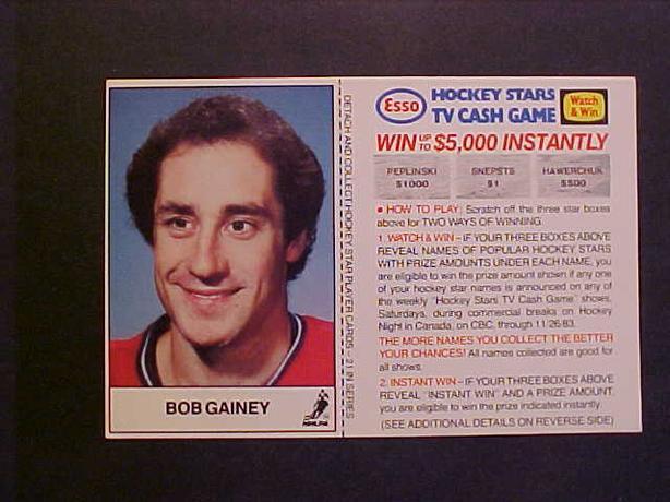 BOB GAINEY HOCKEY CARD
