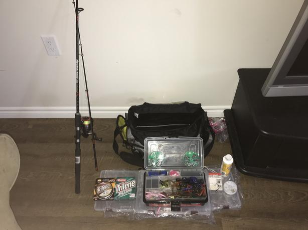 Selling my hubby's fishing gear