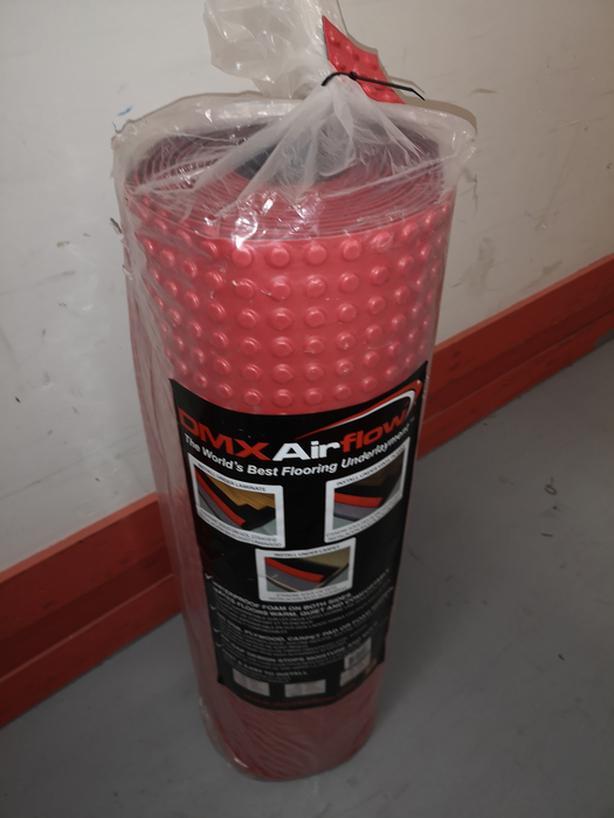 DMX Airflow Underlayment membrane for floors New 100 Sq Ft