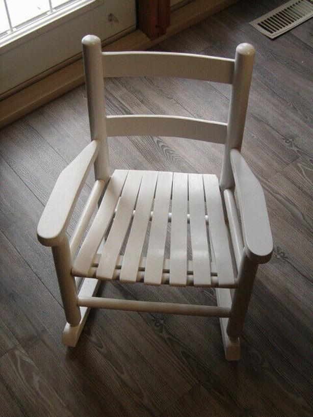 chair  wooded rocking chair, child 's
