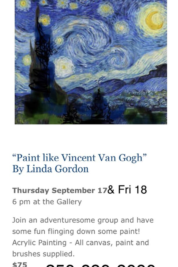 Class: Paint Like Vincent Van Gogh