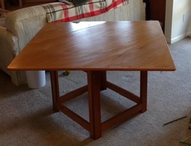 Mid Century Modern Danish Teak Folding Table Beni Mobler