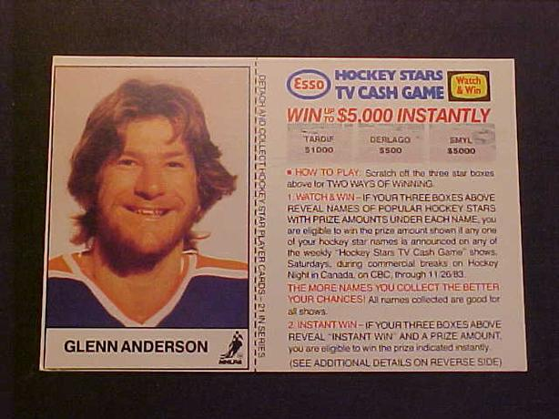 GLENN ANDERSON HOCKEY CARD
