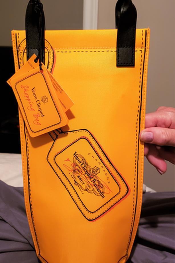 Veuve Clicquot bag for champagne