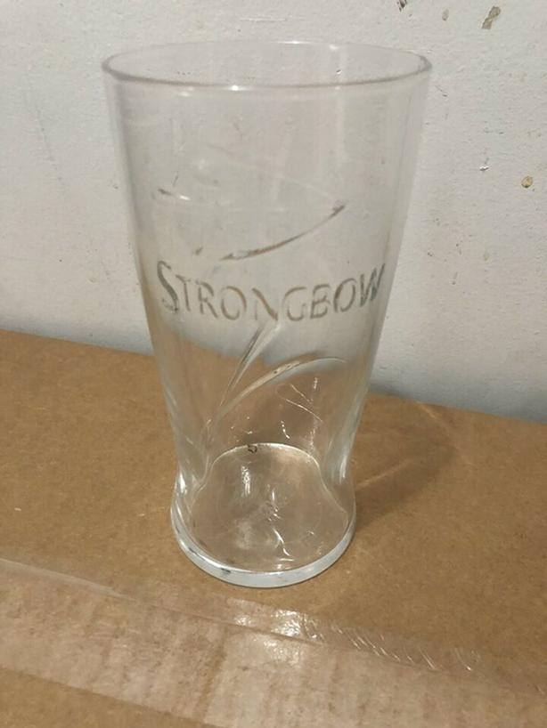 16 x Pint size Strongbow Beer Glasses