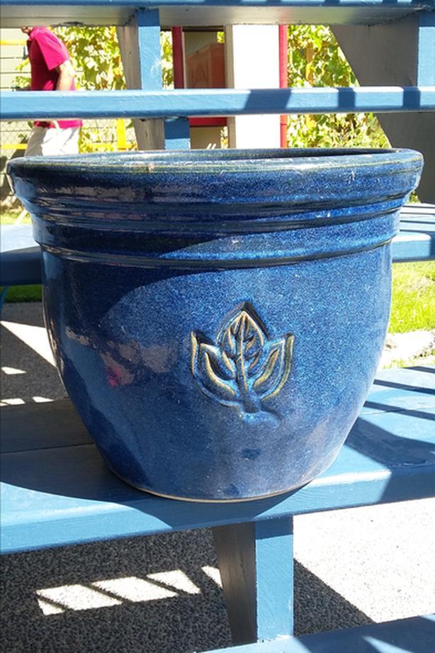 Large blue Ceramic Flower Pot