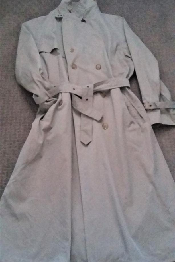 Mens Classic Casual Trench Coat size L