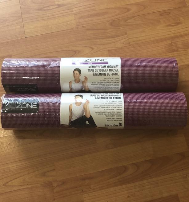 GoZone Memory Foam Yoga Mat, Burgundy ( lots Available)