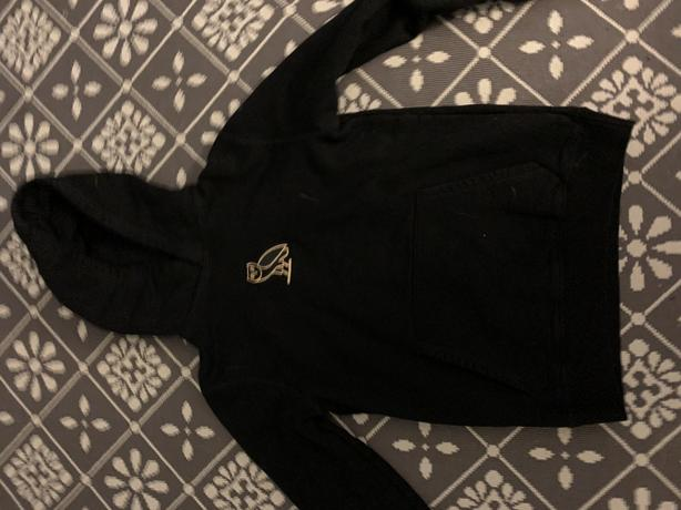 Black ovo sweater embroidered gold owl retail $168 men's small
