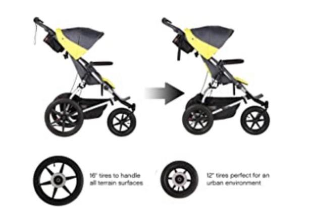 beautiful full option buggy terrain stroller eith accessorries
