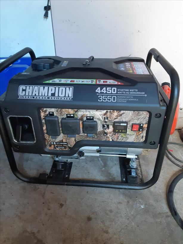 Champion 4450/3550 generator, used once camping