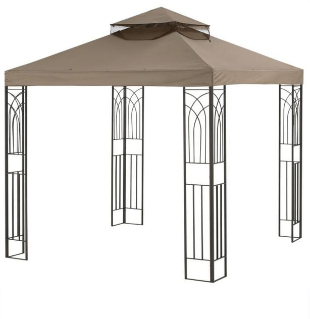 Crawford Collection Gazebo with Curtains
