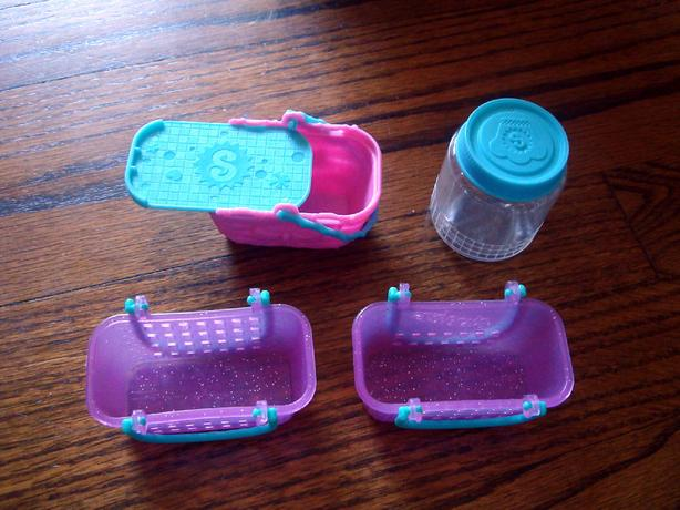 14 Piece Shopkins Baskets Storage Toys - $5 all