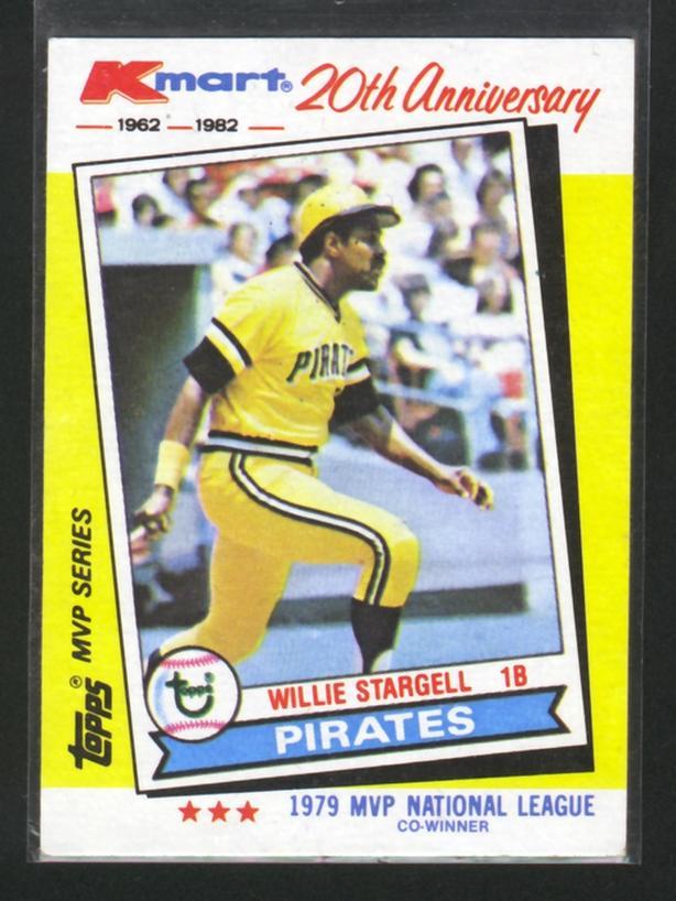 1982 Kmart Topps 20th Anniversary Willie Stargell Pirates