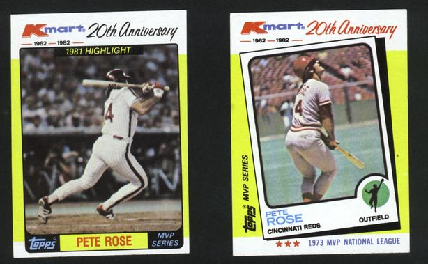 1982 Kmart Topps 20th Anniversary Pete Rose Reds Phillies
