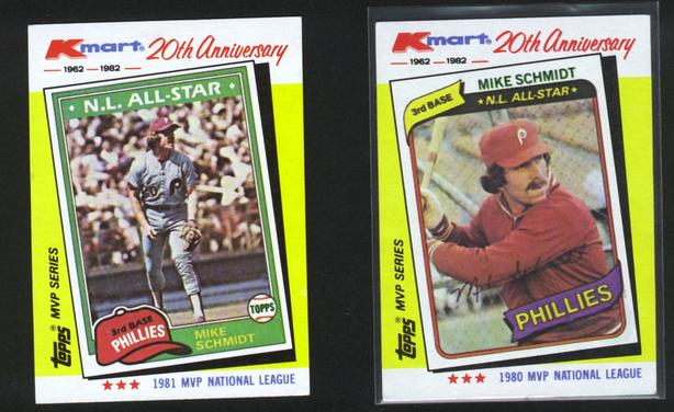 1982 Kmart Topps 20th Anniversary Mike Schmidt Phillies