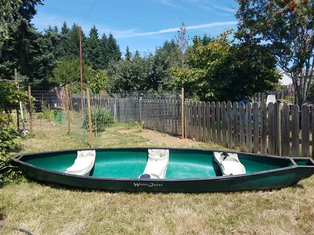 Flatback 14' Canoe Green