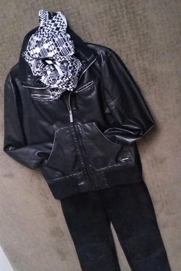 Bomber Jacket and Leather Pants size M
