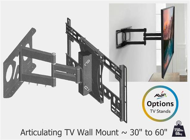 """Articulating TV Wall Mount 30"""" to 60"""""""