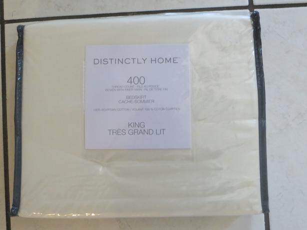 Distinctly Home - Beige King Bedskirt