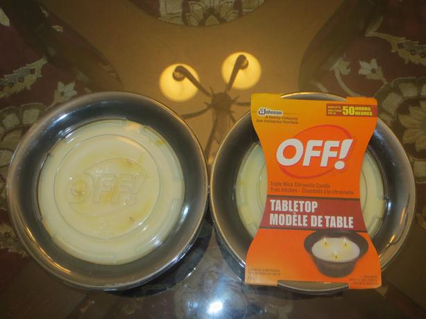 2 OFF Tabletop Candle