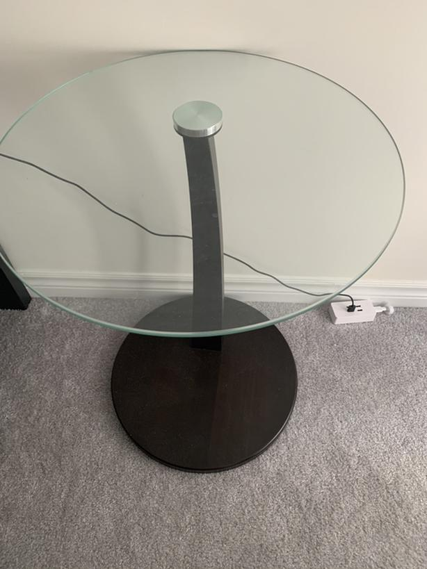Glass night table