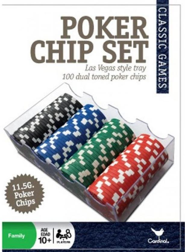New 100 piece heavy Las Vegas style poker chip set