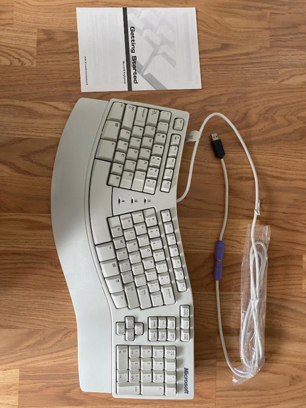 Ergonomic Microsoft Natural Keyboard Elite