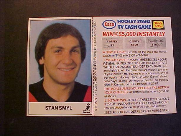 STAN SMYL HOCKEY CARD
