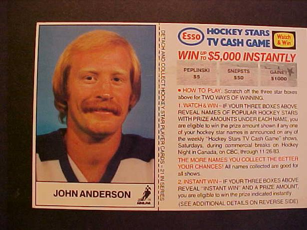 JOHN ANDERSON HOCKEY CARD