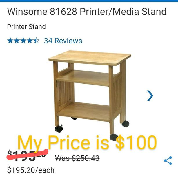 Winsome Wood 24-in x 27-in Honey Wood Foldable