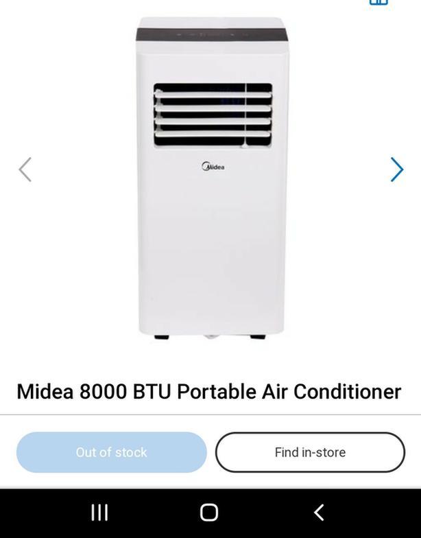 Midea 8000 BTU Portable Air Conditioner  Midea