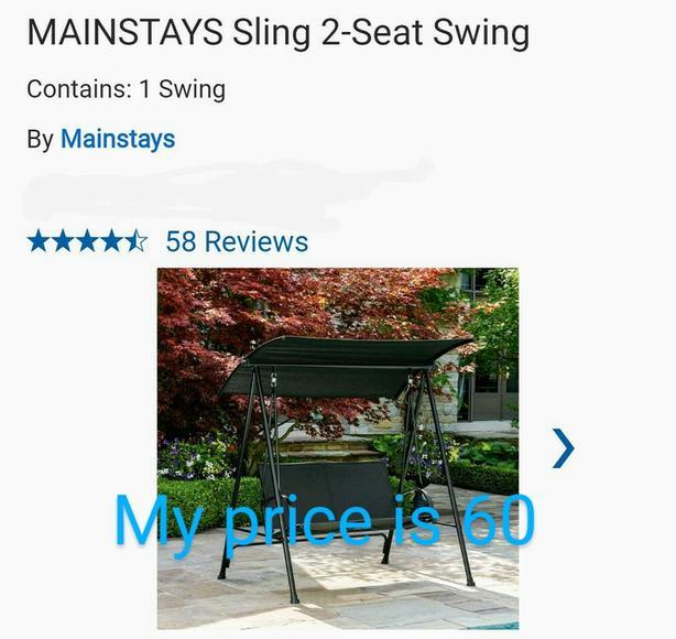 MAINSTAYS Sling 2-Seat Swing  Mainstays