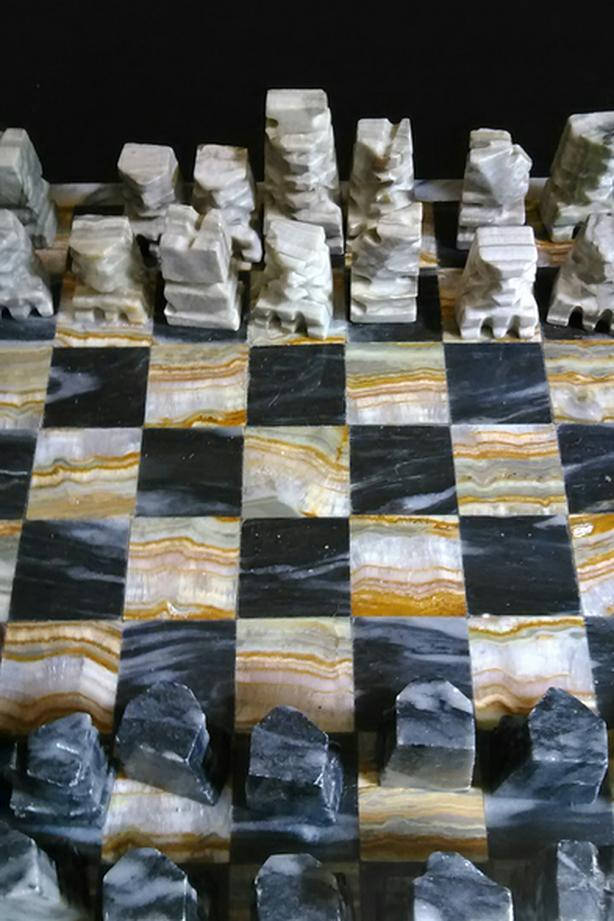 MINI MARBLE CHESSBOARD SET