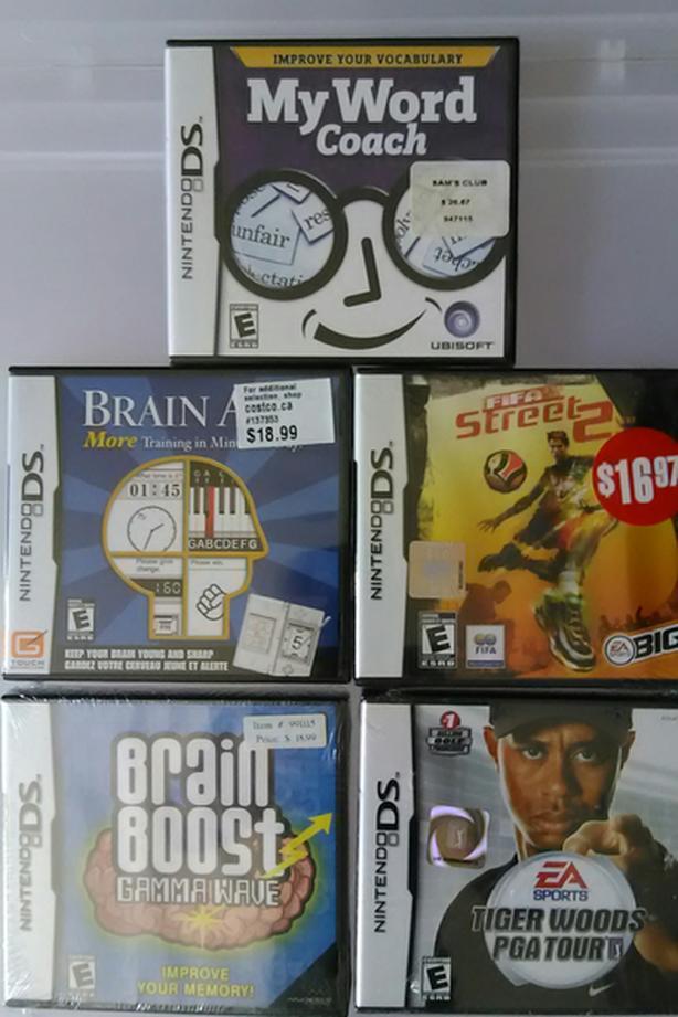 5 NEW NINTENDO DS GAMES