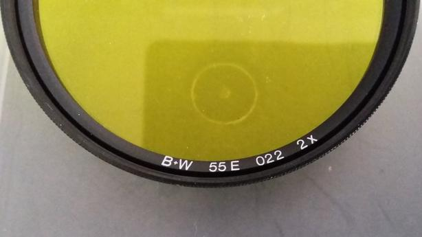 5 Camera Lens Filters: red, light red, yellow, sky lite