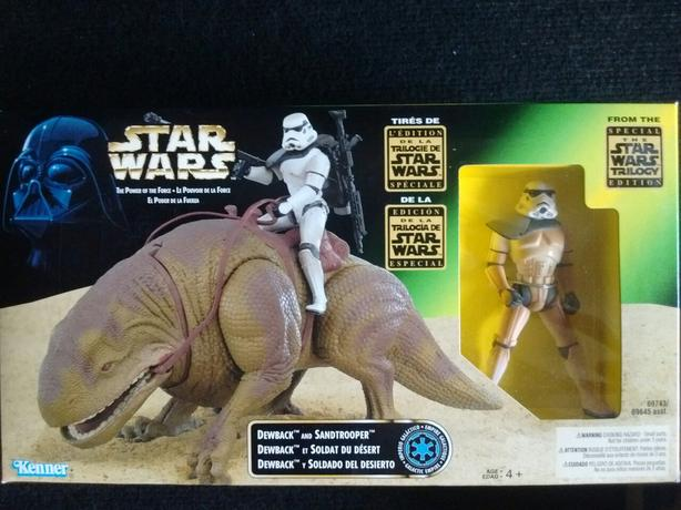 1997 KENNER Star Wars Power of the Force Action Playsets DEWBACK & SANDTROOPER