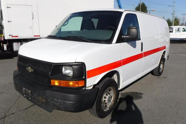 2008 Chevrolet Express 2500 5 Passenger Cargo Van with Rear Shelving