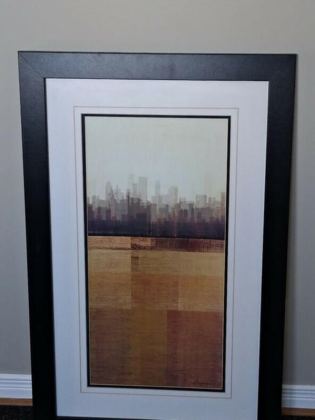 Modern Cityscape Framed Artwork